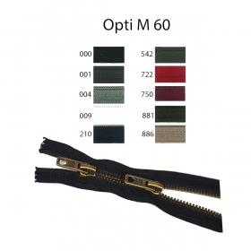 donkerrode dubbeldeelbare rits, 60 cm (750)