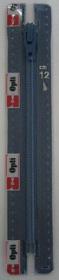 blauwe rits niet deelbaar, 60 cm (0027)
