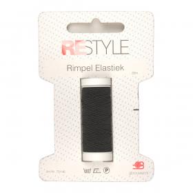 ReStyle Rimpel Elastiek, 20m, zwart