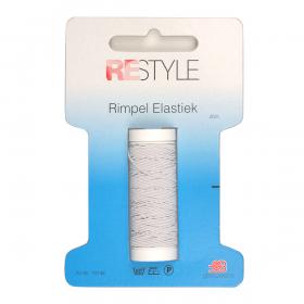 ReStyle Rimpel Elastiek, 20m, wit