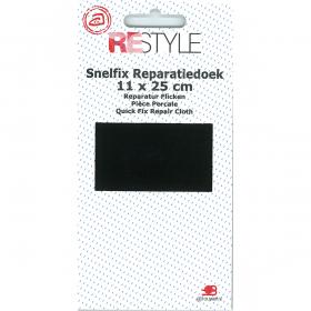 ReStyle Snelfix reparatiedoek, 11 x 25 cm, zwart