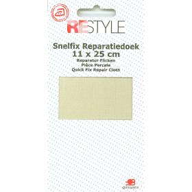 ReStyle Snelfix reparatiedoek, 11 x 25 cm, ecru