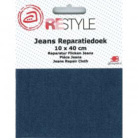 ReStyle Jeans reparatiedoek, 10 x 40 cm, blauw