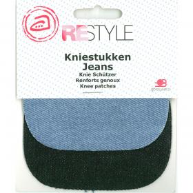 ReStyle Jeans Kniestukken, 2 paar