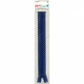 donkerblauwe love rits, 20 cm