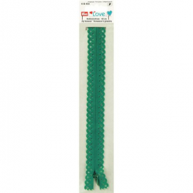 zeegroene love rits, 40 cm