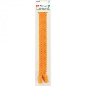 gele love rits, 40 cm
