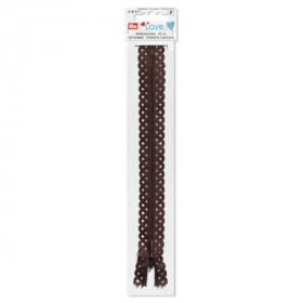 donkerbruine love rits, 40 cm