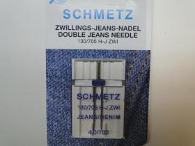 Schmetz Tweelingnaald Jeans 4,0 nr. 100