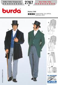 Historisch kostuum (maat 44-60), Burda 2767
