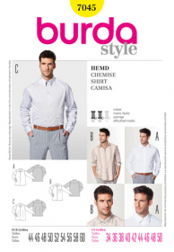 Overhemd (maat 44-60), Burda 7045
