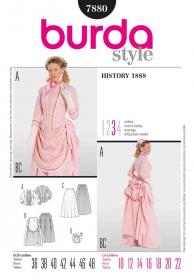 Historische jurk (maat 36-48), Burda 7880