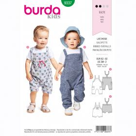 tuinbroek (maat 62-92) Burda 9337