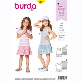 jurkje (maat 92-122) Burda 9341