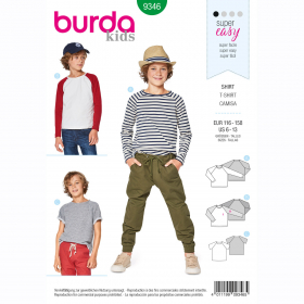 shirt (maat 116-158) Burda 9346