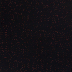 zwart stretch tricot bedrukt met brique stippen