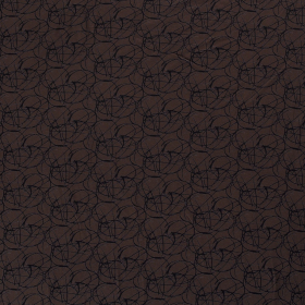 bruin stretch tricot bedrukt met cirkels