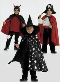 Tovenaar met hoed, piraat en duivel (maat 98-128), Burda 2494