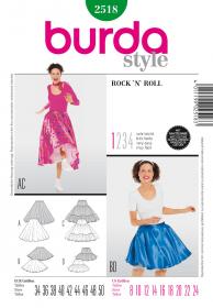 Rock 'n' Roll, met petticoat (maat 34-50), Burda 2518
