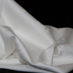 witte katoen damast met franse lelie extra breed