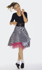 Rock 'n' Roll, met petticoat (maat 104-164), Burda 2809