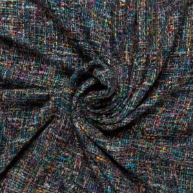 multi color couture bouclé