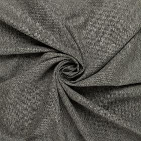 zwart wol-wit visgraat tweed