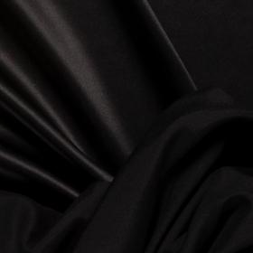 zwart stretch zijde crepe satijn Italiaans import