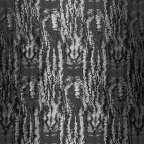zilvergrijs antraciet zwart ikat zijdeblend jacquard italiaans import