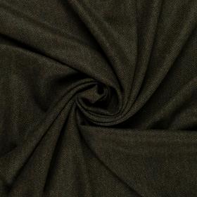 mosgroen zwart gemêleerd Shetland tweed met visgraat