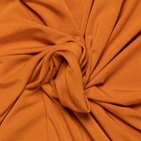 rusty oranje stretch tricot van bamboe