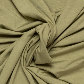 lindegroen stretch tricot van bamboe