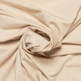 beige stretch tricot van bamboe