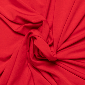 rood stretch tricot van bamboe