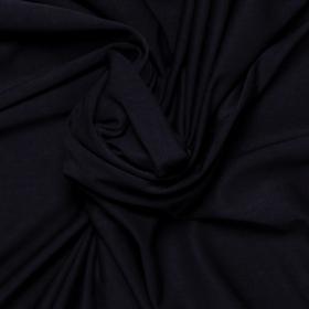 donkerblauw stretch tricot van bamboe
