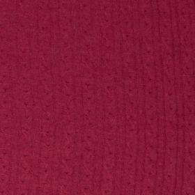 donker fuchsia kabel gebreid merino wol italiaans import