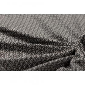 zwart grijs boogjes dessin jacquard jersey italiaans import