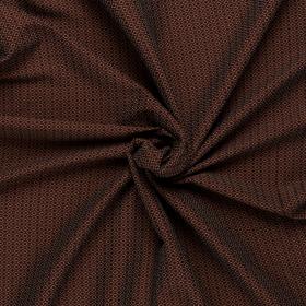 bruin schuin geblokt stretch jacquard katoen blend