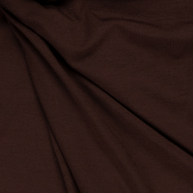 chocolade bruin stretch tricot van bamboe