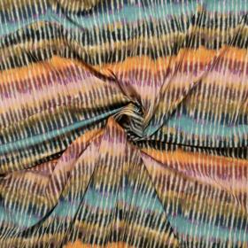 stretch tricot met mos zeeblauw roze fijn streep dessin italiaans import