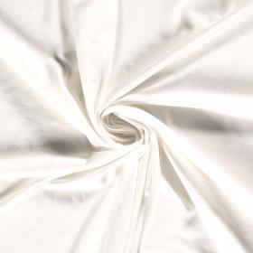off white stretch tricot van bamboe en katoen