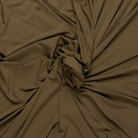 olijf groen stretch tricot van bamboe