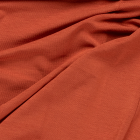 terra cotta stretch tricot van bamboe