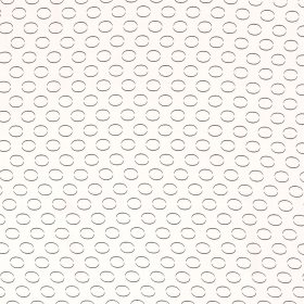 wit viscose poplin met zwart ovaal dessin bedrukt