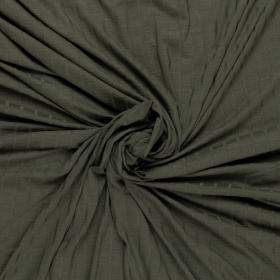 donkergroen stretch tricot met ribbel