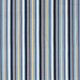 denimblauw stretch jersey katoen met streep dessin