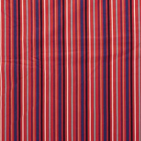 rood stretch jersey katoen met streep dessin