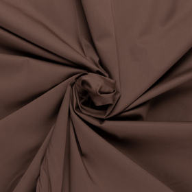 chocoladebruin satijn katoen viscose met stretch