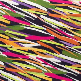multicolor fantasie gestreept satijn katoen met stretch italiaans import