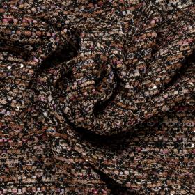 zwart beige roze Haute Couture bouclé Italiaans import